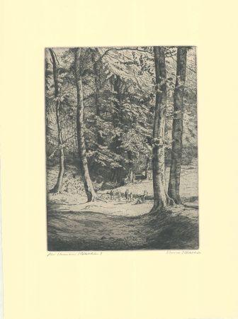 Grabado Kätelhön - Im Wald