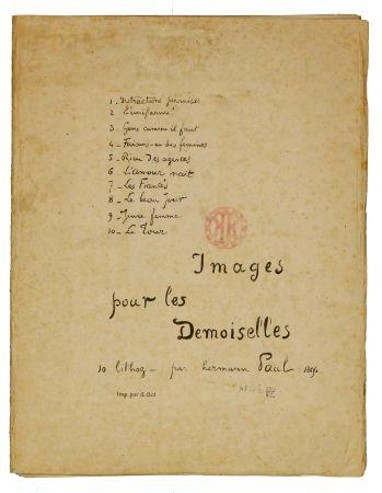 Litografía Hermann-Paul - Images pour les Demoiselles (covert)