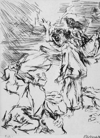 Aguafuerte Kokoschka - Imaginares Bildnis des Aritophanes