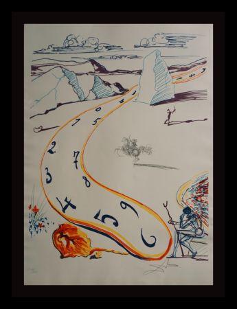 Grabado Dali - Imaginations & Objects ofThe Future Melting Space Time