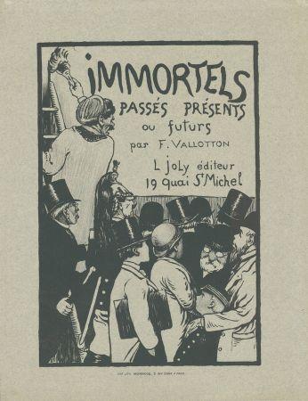 Litografía Vallotton - Immortels passés, présents ou futurs