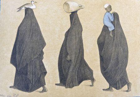 Litografía Zuniga - Impressions of Egipto (Egypt) plate 10