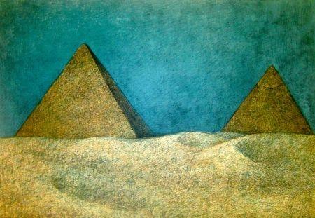 Litografía Zuniga - Impressions of Egypt Suite, Plate 10