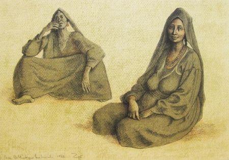 Litografía Zuniga - Impressions of Egypt Suite, Plate 6