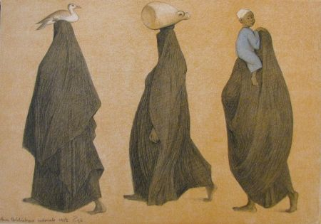 Litografía Zuniga - Impressions of Egypt Suite, Plate 8