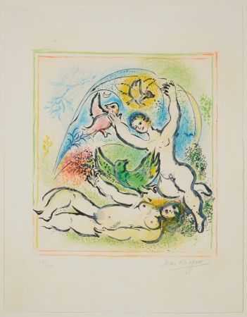 Litografía Chagall - In the Land of the Gods