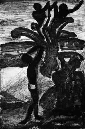 Aguatinta Rouault - Incantation