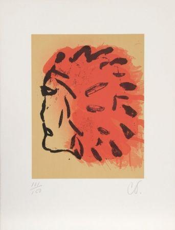 Litografía Oldenburg - Indian Head from Peace Portfolio