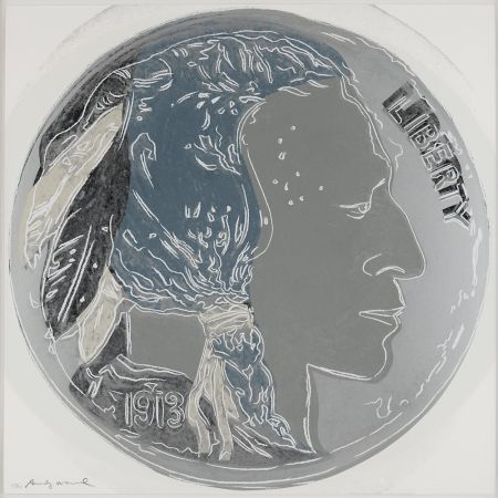 Serigrafía Warhol - Indian Head Nickel