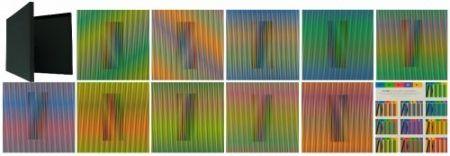 Litografía Cruz-Diez - Inducción Cromática a doble frecuencia