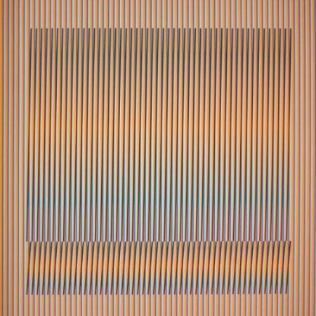 Litografía Cruz-Diez - Induction Chromatique a double fréquence Série Orinoco 1