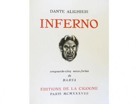 Libro Ilustrado Barta - Inferno.  Cinquante-cinq eaux-fortes de Barta.