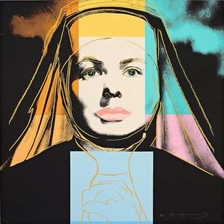 "Serigrafía Warhol - Ingrid Bergman The Nun (From ""The Bells of St. Mary's"")"
