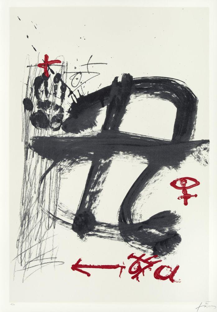Serigrafía Tàpies - Inicials (AVL Zürich)