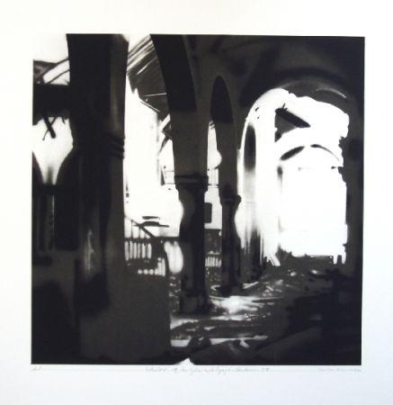 Litografía Equipo Realidad - Interior de la Iglesia de Espejo (Cordoba) en septiembre de 1937