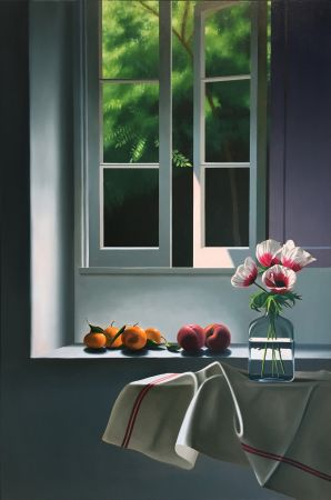 Sin Técnico Cohen - Interior with Anemones and Fruit