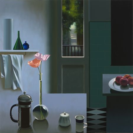Sin Técnico Cohen - Interior with Coffee Pot and Poppies