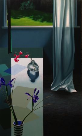 Sin Técnico Cohen - Interior with Iris and Sweet Peas