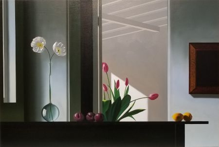 Sin Técnico Cohen - Interior with Sunlit Tulips