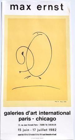 Litografía Ernst - International Art Gallery Paris- Chicago