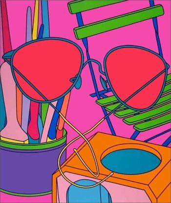 Serigrafía Craig-Martin - Intimate Relations: Sunglasses