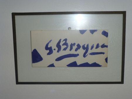 Litografía Braque - Invitation à la galerie Maeght