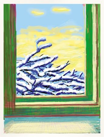 Sin Técnico Hockney - IPad drawing `No 610`, 23rd December 2010
