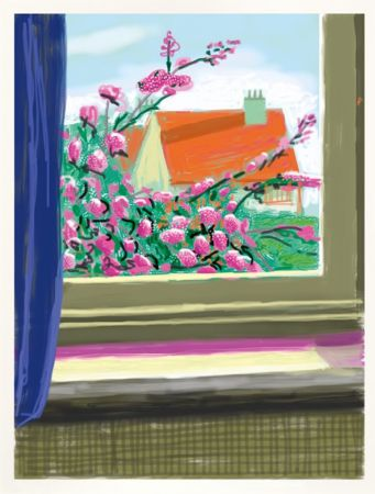 Estampa Numérica Hockney - IPad drawing  'No. 778', 17th April 2011 | Do remember they can't cancel the spring
