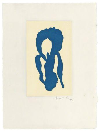 Grabado Hernandez Pijuan - Iris blau 10
