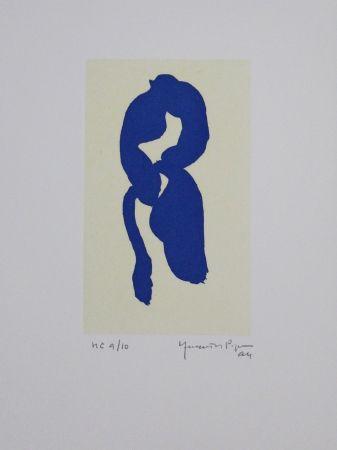 Aguatinta Hernandez Pijuan - Iris blau III / Blue Iris III