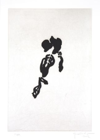 Grabado Hernandez Pijuan - Iris negre II