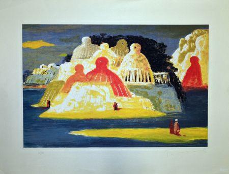 Aguafuerte Fiume - Isola delle statue