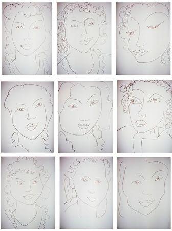 Libro Ilustrado Matisse - J.-A. NAU : POÉSIES ANTILLAISE (28 lithographies originales)