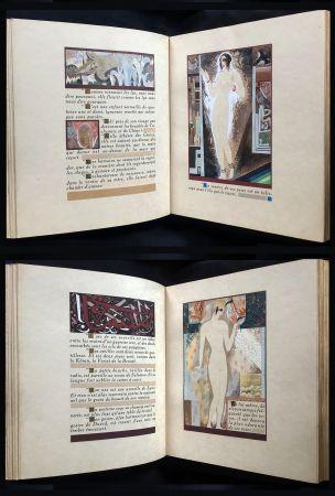 Libro Ilustrado Schmied - J.-C. Mardrus : HISTOIRE CHARMANTE DE L'ADOLESCENTE SUCRE D'AMOUR (1927).