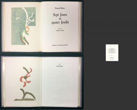 Libro Ilustrado Beaudin - Jacques Baron : SEPT JOURS ET QUATRE JEUDIS. 2 lithographies originales en couleurs.