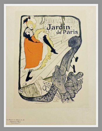 Litografía Toulouse-Lautrec - JANE AVRIL - JARDIN DE PARIS - TOULOUSE LAUTREC
