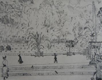 Grabado Vrieslander - Jardin du Luxembourg