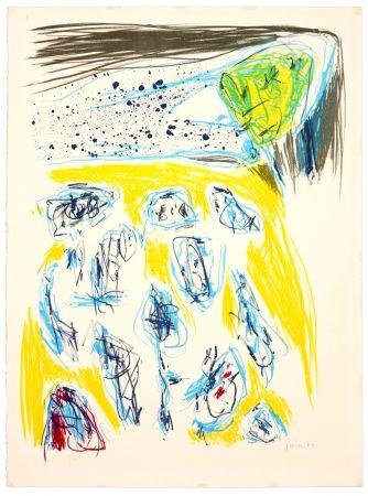 Litografía Jorn - Jaune bleu
