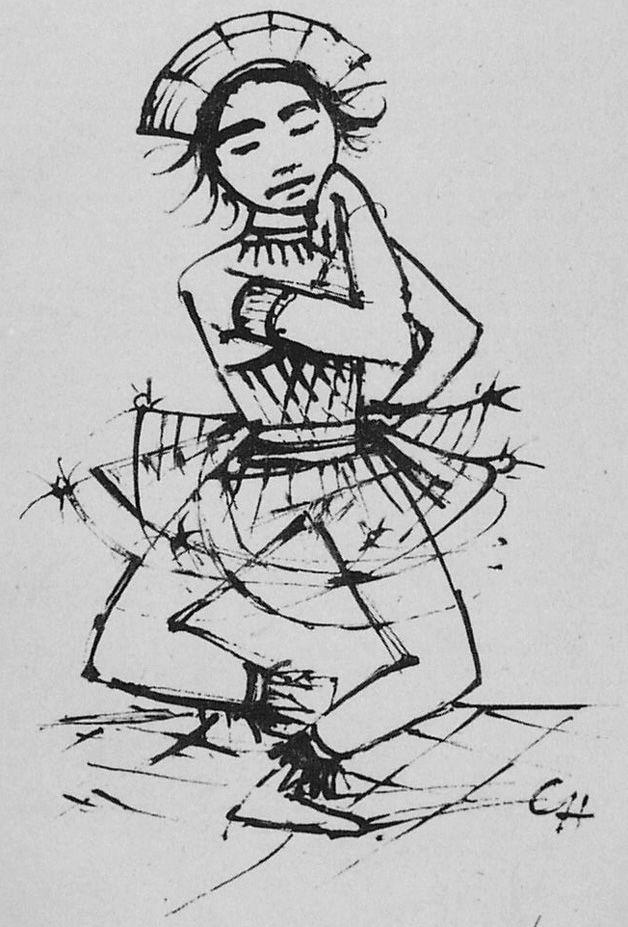 Litografía Hofer - Javanische-Tänzerin