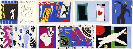 Libro Ilustrado Matisse - JAZZ (20 lithographies en couleurs hors-texte). 1ère édition.