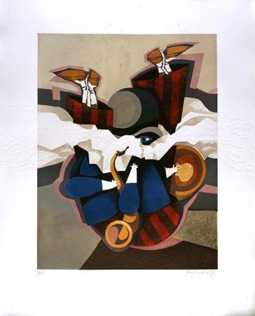 Aguatinta Marin - Jazzman