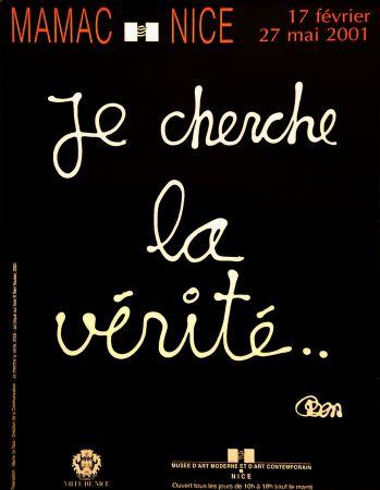 Cartel Vautier - '' Je Cherche la Vérité ''
