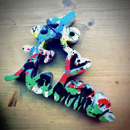 Múltiple Mr. Brainwash - Je t`aime Splash multicolor sculpture Street Art