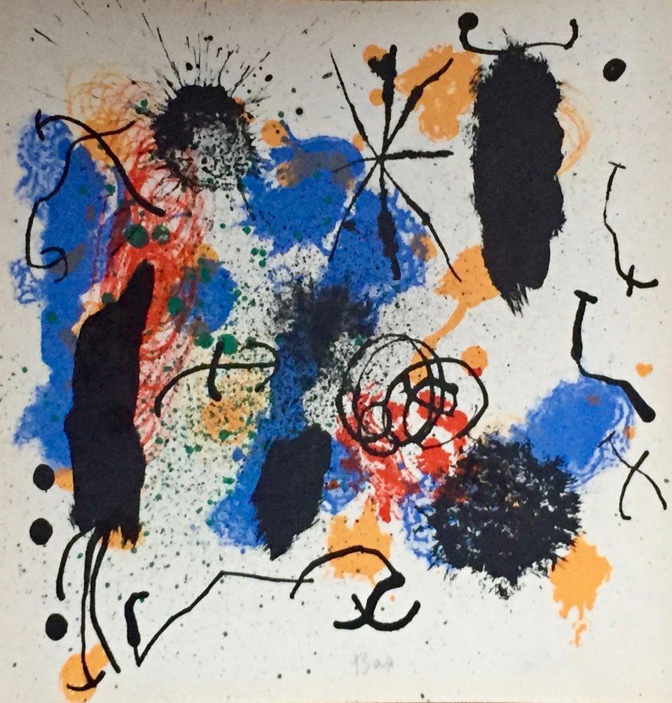 Litografía Miró - Je Travaille Comme Un Jardinier