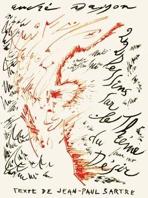 Litografía Masson - Jean-Paul Sartre : Vingt-Deux Dessins Sur Le Thème Du Désir