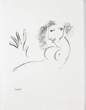 Litografía Chagall - Jean Cassou: vingt-deux poèms