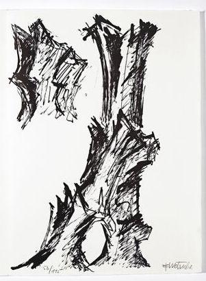Litografía Wotruba - Jean Cassou: vingt-deux poèms