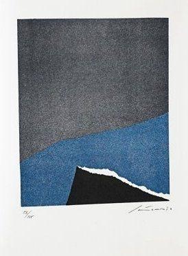Litografía Santomaso - Jean Cassou: vingt-deux poèms