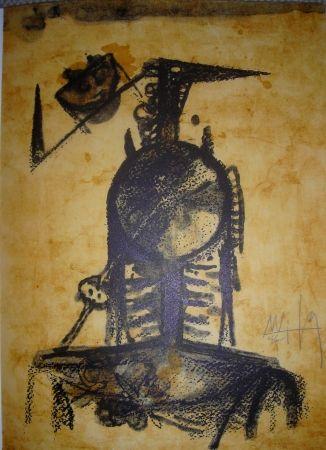 Litografía Lam - Jean Cassou: vingt-deux poèms