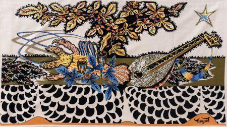 Múltiple Lurcat - Jean LURCAT (1892-1966), d'après. La Table. Tapisserie en laine. Signée.